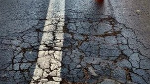 Reading Friar Street cracked road surface