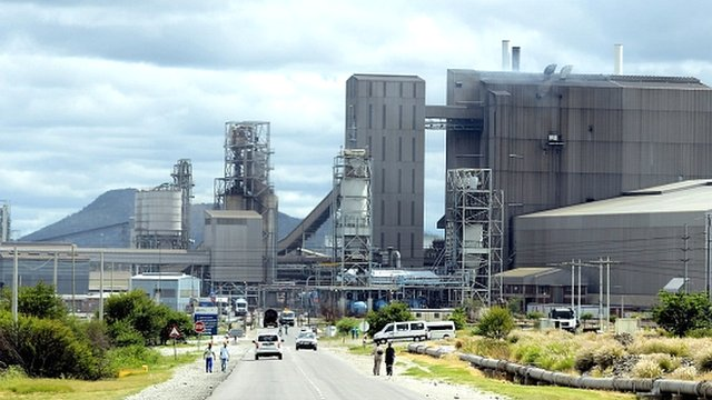Anglo American Platinum mine in Rustenburg
