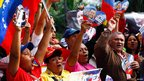 Supporters of Hugo Chavez in Caracas, 18 Feb 2013