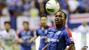 Didier Drogba plays for Shanghai Shenhua in August 2012
