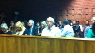 Oscar Pistorius' father in court