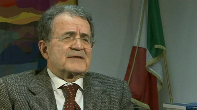 Former Italian Prime Minister Romano Prodi