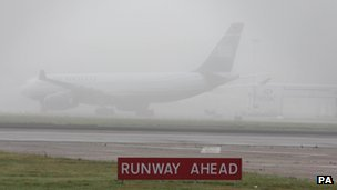 Fog at Heathrow Airport