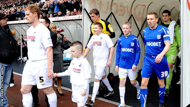 Swansea City v Cardiff City in 2011