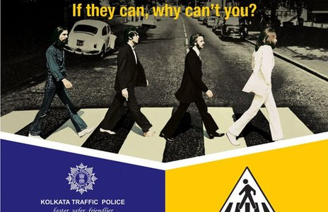 Calcutta traffic police poster