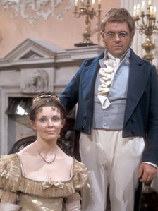 Morag Hood as Natasha Rostova and Anthony Hopkins as Pierre Bezuhov in the 1972 adaptation of War and Peace
