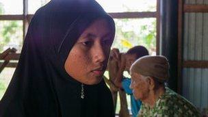 Darunee Alee, widow of 25-year-old militant Sa-oudi Alee