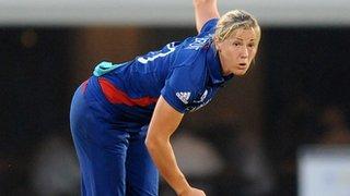 England fast bowler Katherine Brunt