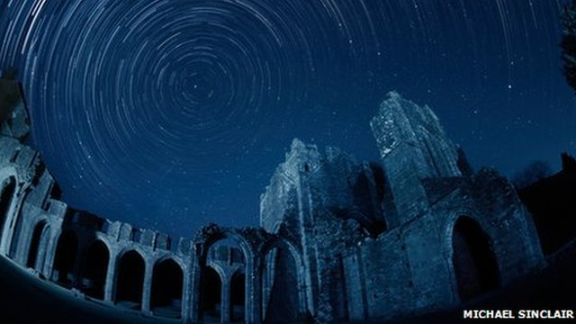Sky above Llanthony Priory