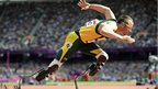 Oscar Pistorius becomes first amputee runner to compete at an Olympics at the London games.