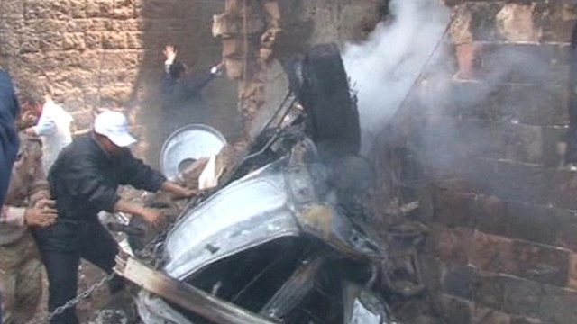 Plane Wreckage http://www.bbc.co.uk/news/world-middle-east-21505467