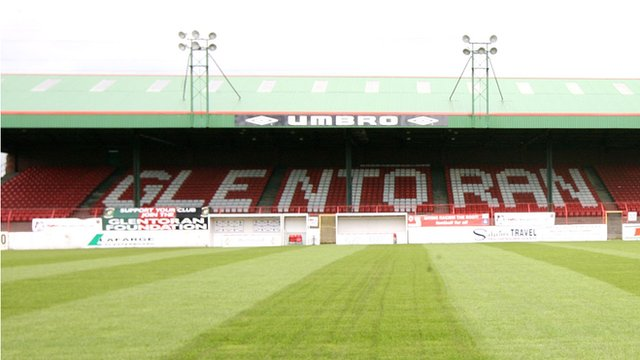 Glentoran play at the Oval