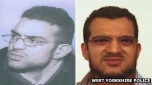 Shahid Mohammed in 2002 and police image of what he might look like in 2013