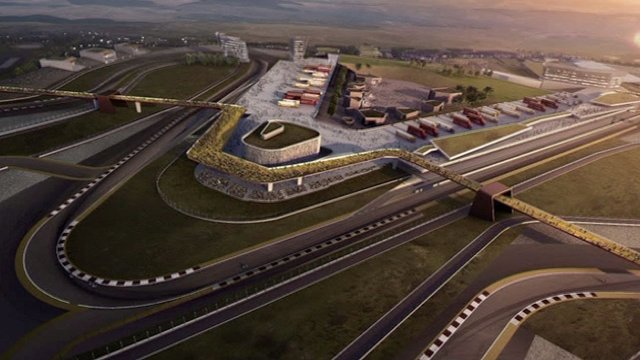 An artist's impression of the planned Ebbw Vale racetrack.