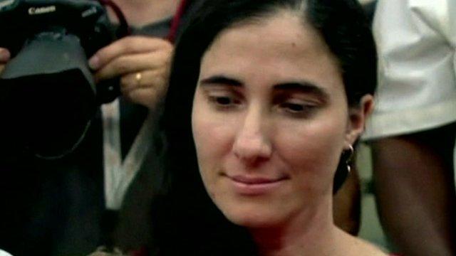 Cuban dissident Yoani Sanchez in Brazil