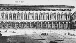 Engraving of Bologna University