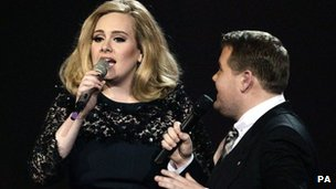 Adele at the 2012 Brit Awards