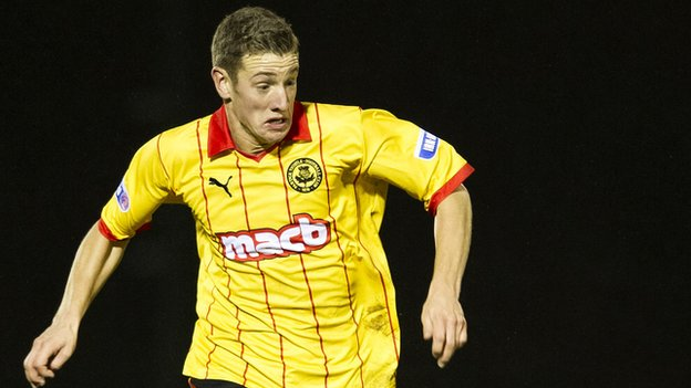 Aaron Muirhead was on target for Thistle