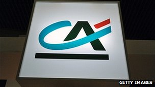 Credit Agricole sign