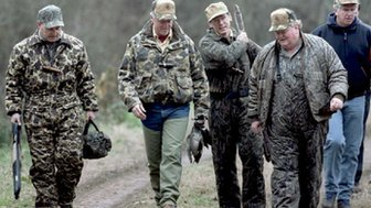 President Clinton duck hunting