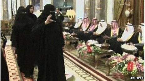 Women at Shura Council swearing-in ceremony, Riyadh (19/02/13)