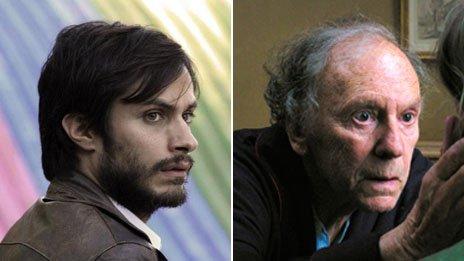 Gael Garcia Benal and Jean-Louis Trintignant