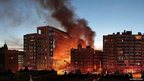 Kansas City fire pictured by Matthew Noonan