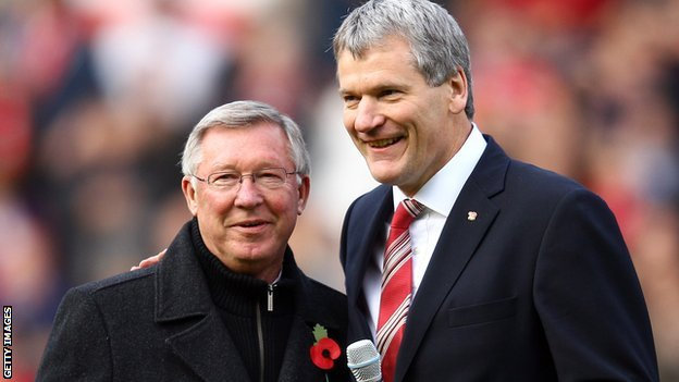 David Gill with Sir Alex Ferguson