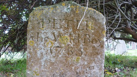 Headstone of Peter the Wild Boy