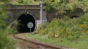 Railway tunnel under the Malvern Hills