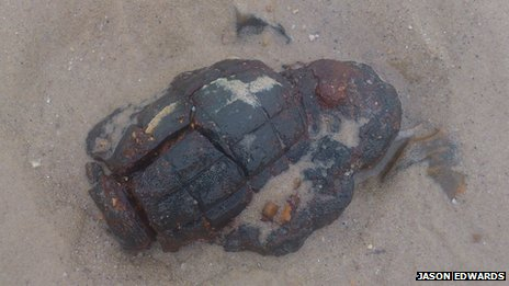 The device found on Canford Cliffs Beach