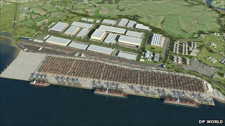 Artist&#039;s impression of the London Gateway project when complete