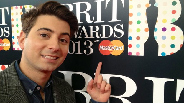Ricky at the Brit Awards 2013