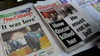 South African newspaper headlines on the Pistorius trial