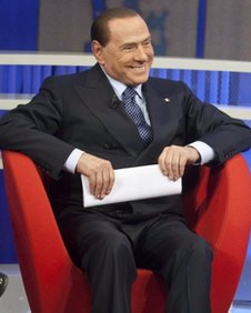Silvio Berlusconi in TV appearance