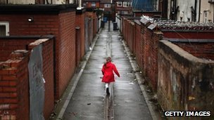 Child in Manchester back street
