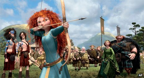 Highland princess Merida takes aim in animated film Brave