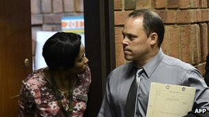 Detective Hilton Botha at court on 20 Feb 2013