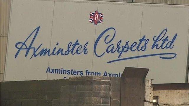 Axminster carpets van