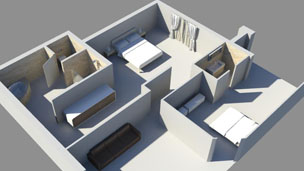 3D impression of Oscar Pistorius' house