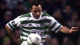 Ramon Vega playing for Celtic