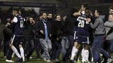 Southend players celebrate their win