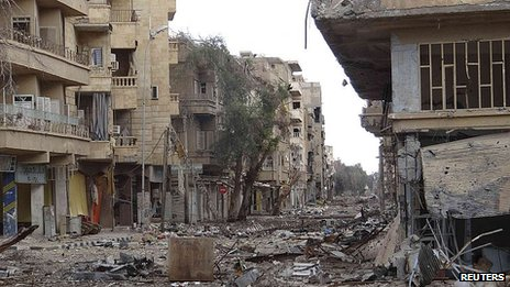 Destruction in Deir el-Zor, Syria. 20 Feb 2013
