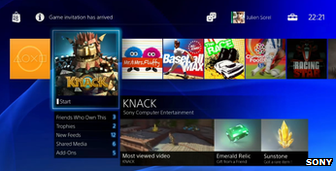 PlayStation 4 interface