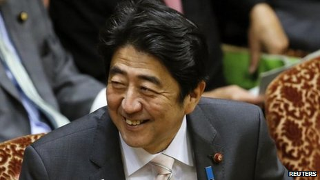 File photo: Japanese Prime Minister Shinzo Abe