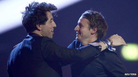 Nick Grimshaw and Ben Howard