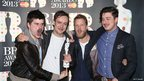Recognise this lot? No? Oh. Well they're Mumford and Sons and they won best British group.