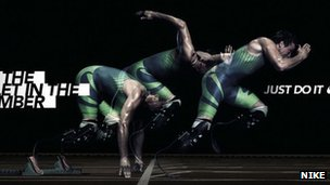 Nike &quot;I am the bullet in the chamber&quot; ad campaign