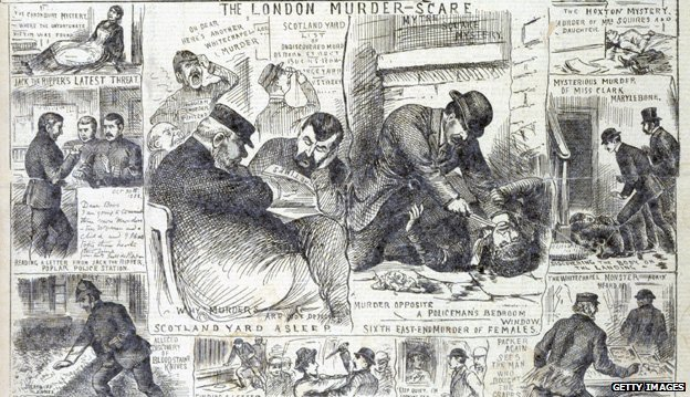 Front page detail of The Illustrated Police News relating to the Whitechapel murders