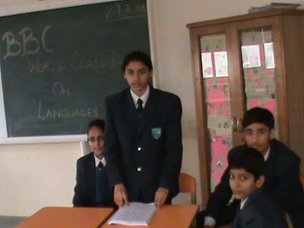 The Millennium School in Mohali, India discuss language